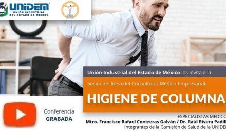 (Evento Grabado) Consultorio Médico Empresarial: HIGIENE DE COLUMNA.