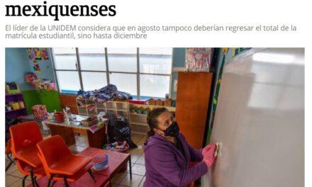 """""""Arriesgado el regreso presencial a las aulas"""": industriales mexiquenses"""