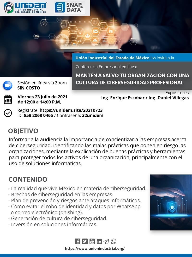 Flyer 2021 07 02 - Mantén a salvo tu organización con una cultura de ciberseguridad 800 x 1071