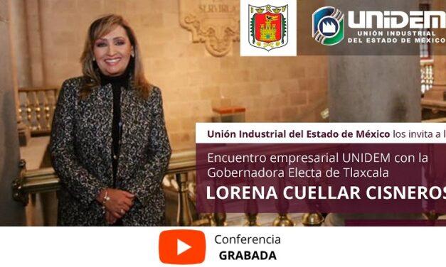 (Evento Grabado) Encuentro empresarial UNIDEM con la Gobernadora Electa de Tlaxcala LORENA CUELLAR CISNEROS