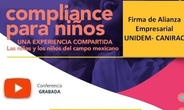 (Evento Grabado) Sesión Empresarial en línea: FIRMA DE ALIANZA EMPRESARIAL UNIDEM – CANIRAC