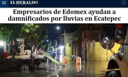 EMPRESARIOS DE EDOMEX AYUDAN A DAMNIFICADOS POR LLUVIAS EN ECATEPEC