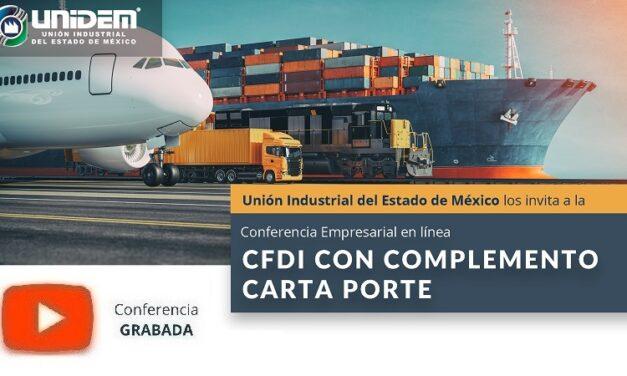 (Evento Grabado) Conferencia Empresarial en línea: CFDI CON COMPLEMENTO CARTA PORTE