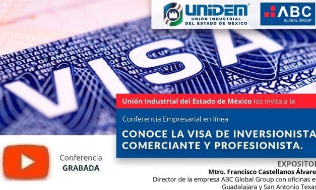 (Evento Grabado) Conferencia Empresarial en línea: CONOCE LA VISA DE INVERSIONISTA, COMERCIANTE Y PROFESIONISTA.